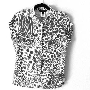 BCBG animal print top